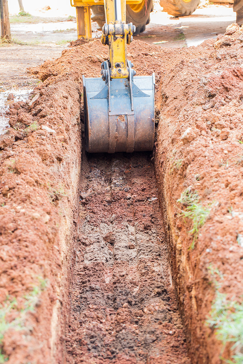 excavator-hire-rates-digging-a-trench