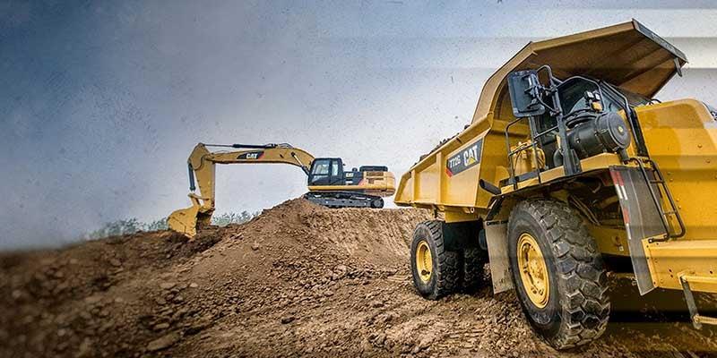 CAT-mining-truck-excavator