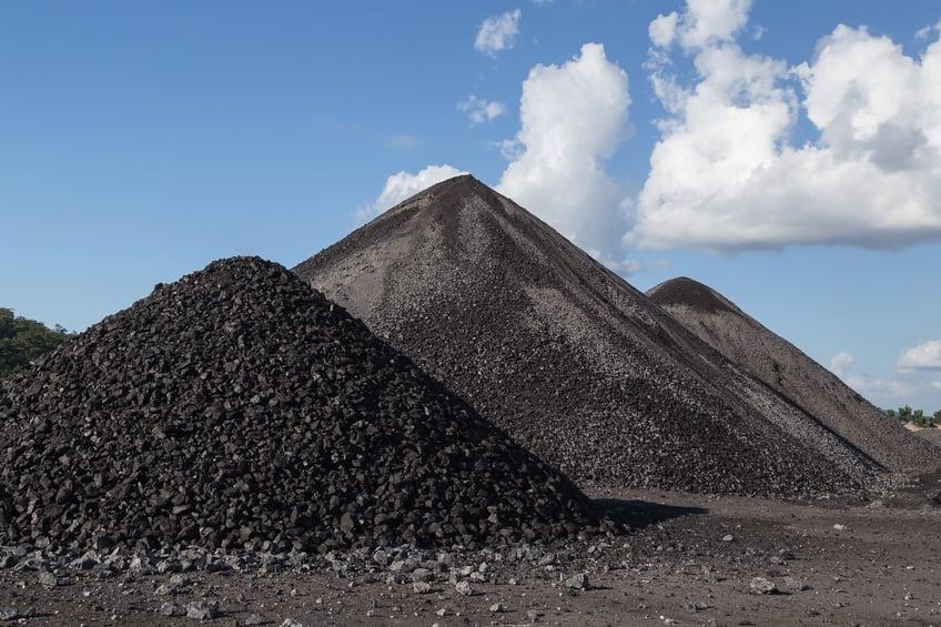 Coal mining pile