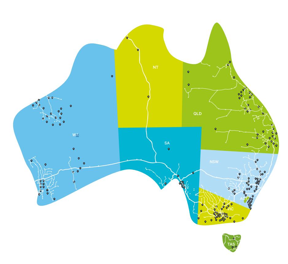 Downer Map of Australia