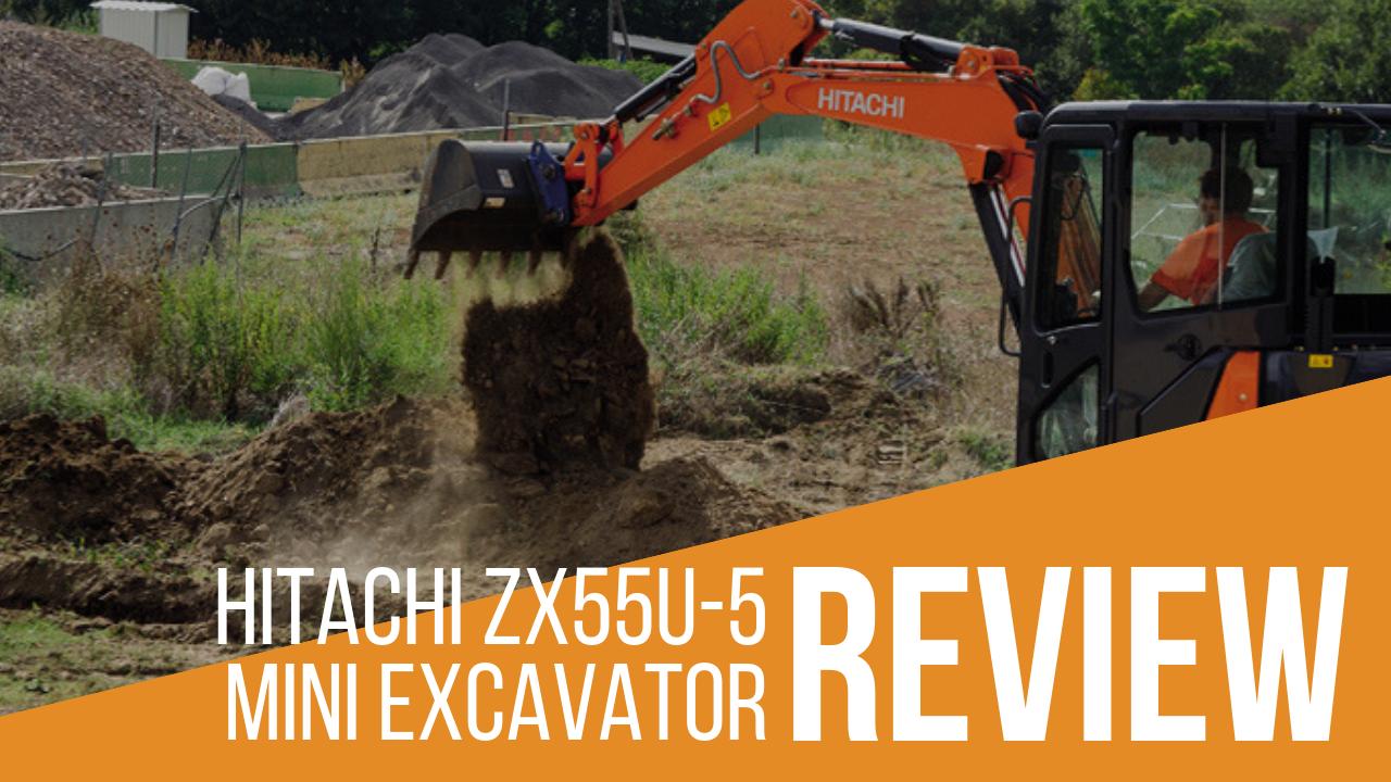 Hitachi ZX55U-5 Mini Excavator Banner