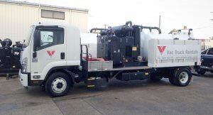 Vac Truck Rentlas 3000L unit for hire