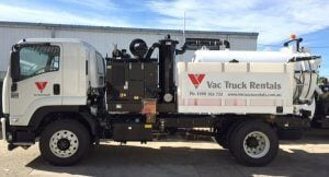 Vac Truck Rentlas 4000L unit for hire