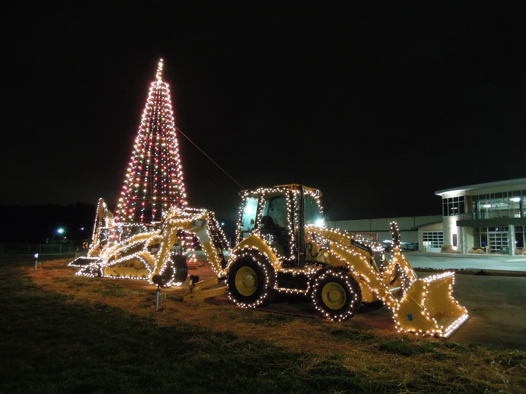 loader - christmas lights earthmoving gear