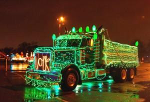 christmas road truck