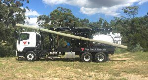 Vac Truck Rentals Crane Vac for hire.