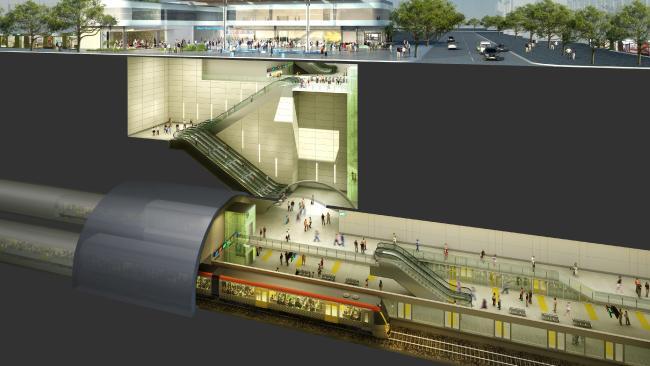 Cross River Rail Cross Section