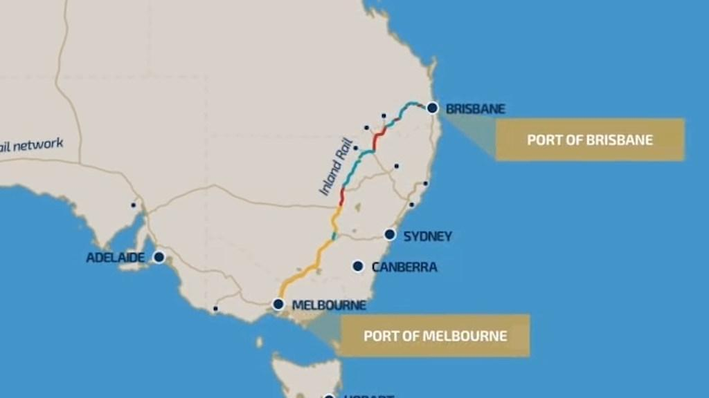 Inland Rail Map