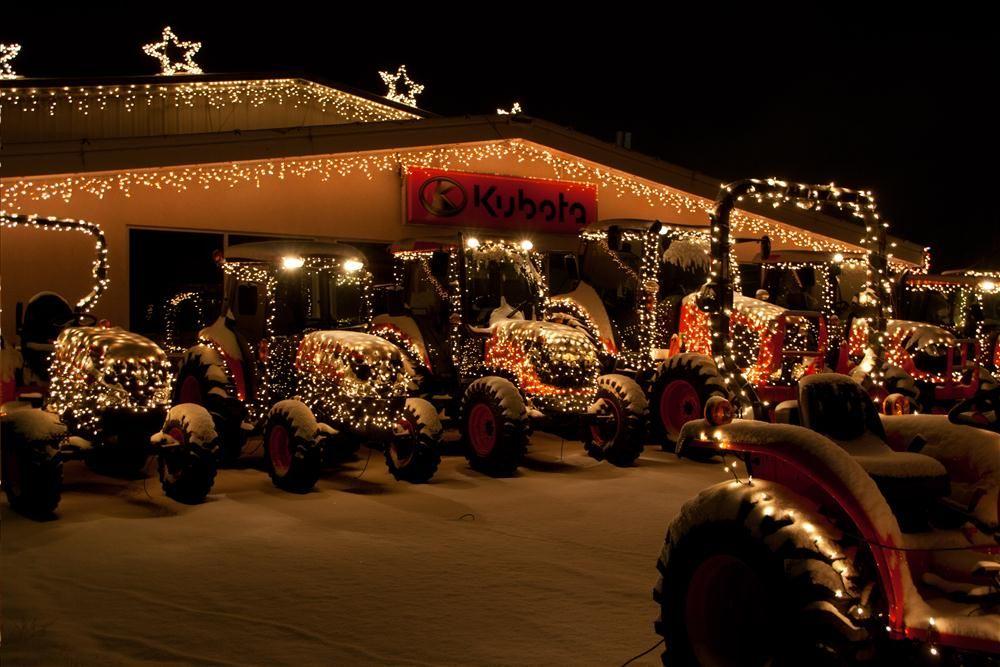 christmas lights tractors
