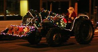 tractor christmas lights