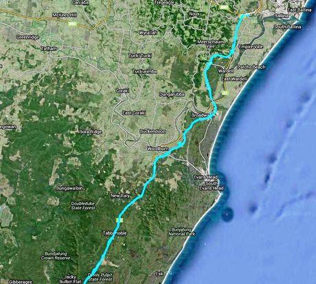 Woolgoolga to Ballina service road