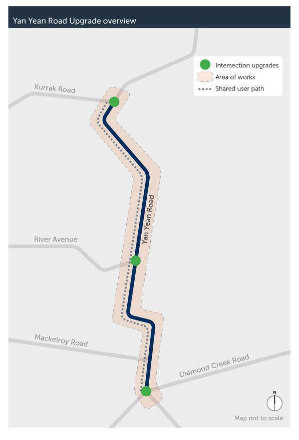 Yan Yean Road Map