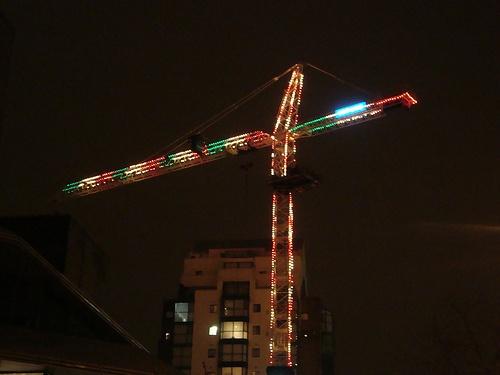 crane christmas lights
