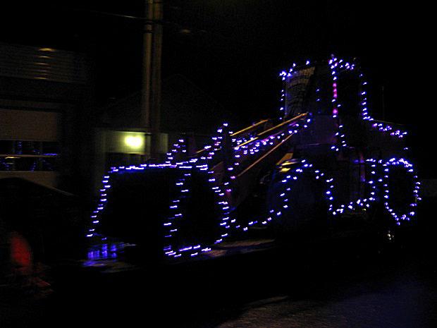 loader in christmas lights