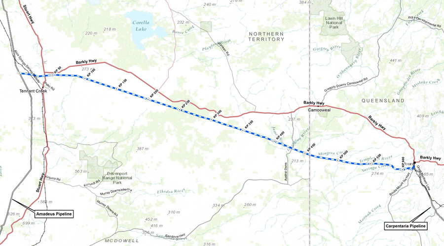 Northern Gas Pipeline Route