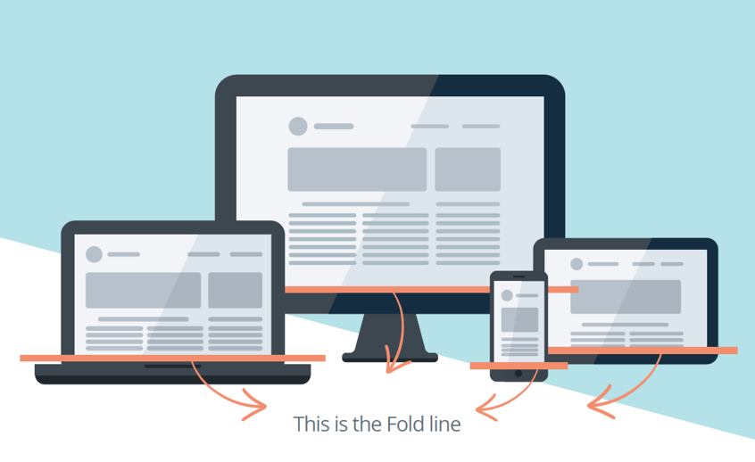 This is the fold line