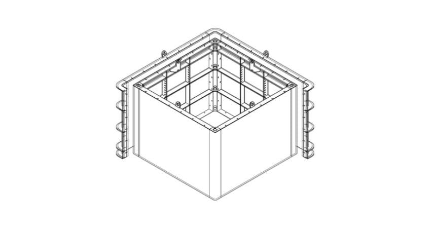 Heavy duty pit box design by Manhole Form Hire