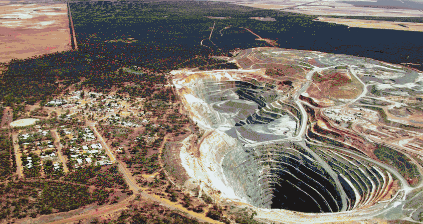Open Lithium Mine in WA