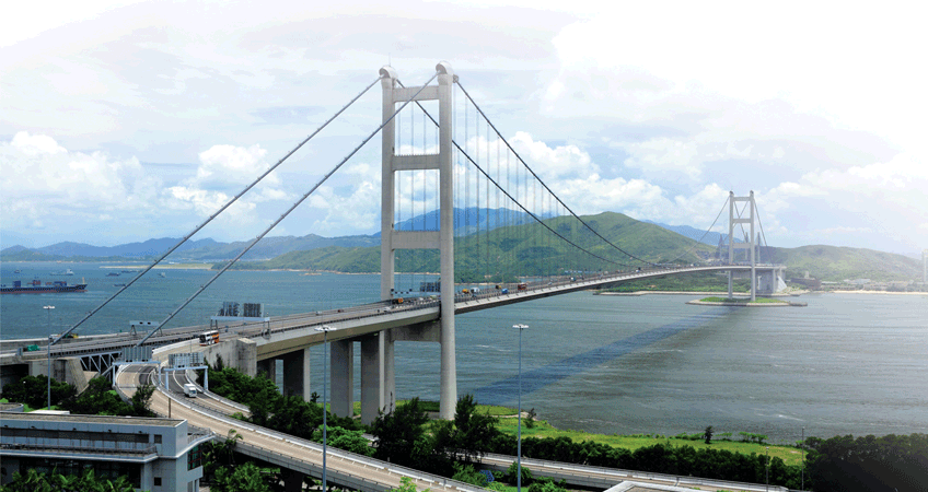 An Island Bridge in HK