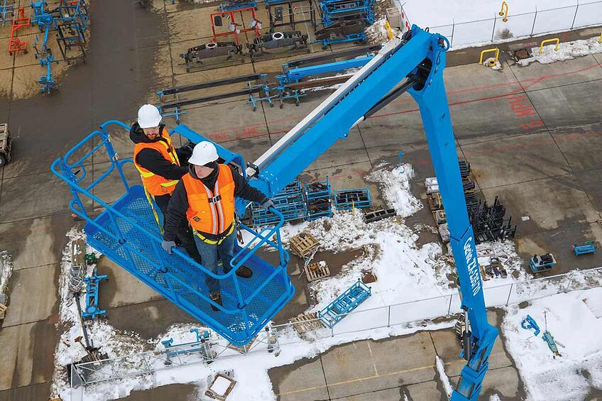 what is a knuckle boom elevated work platform