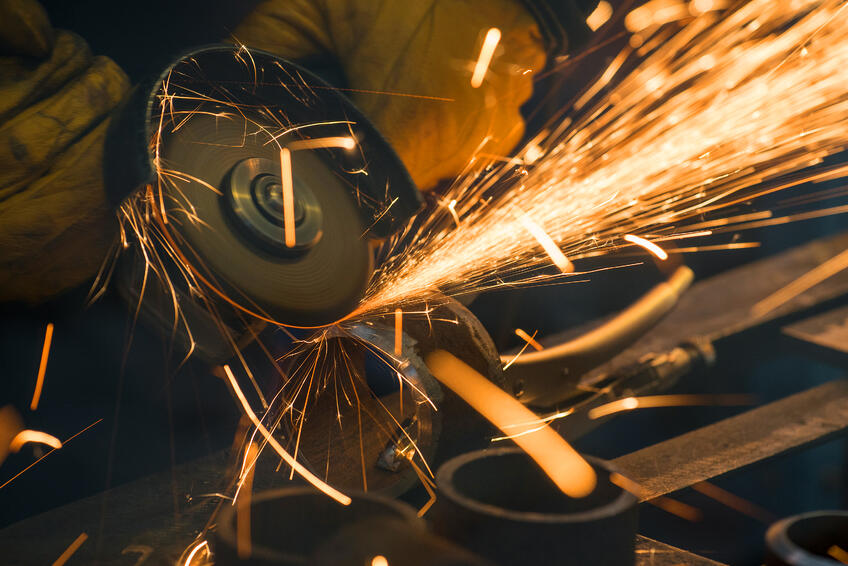 grinder with sparks