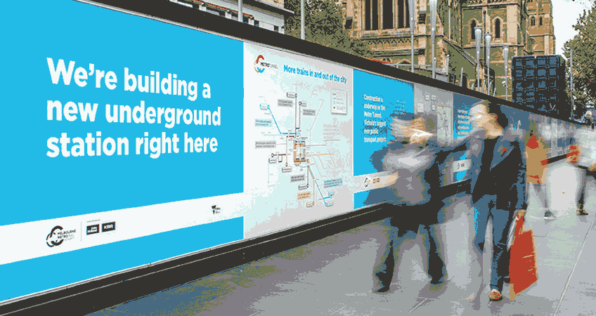 Metro Tunnel Project Signage
