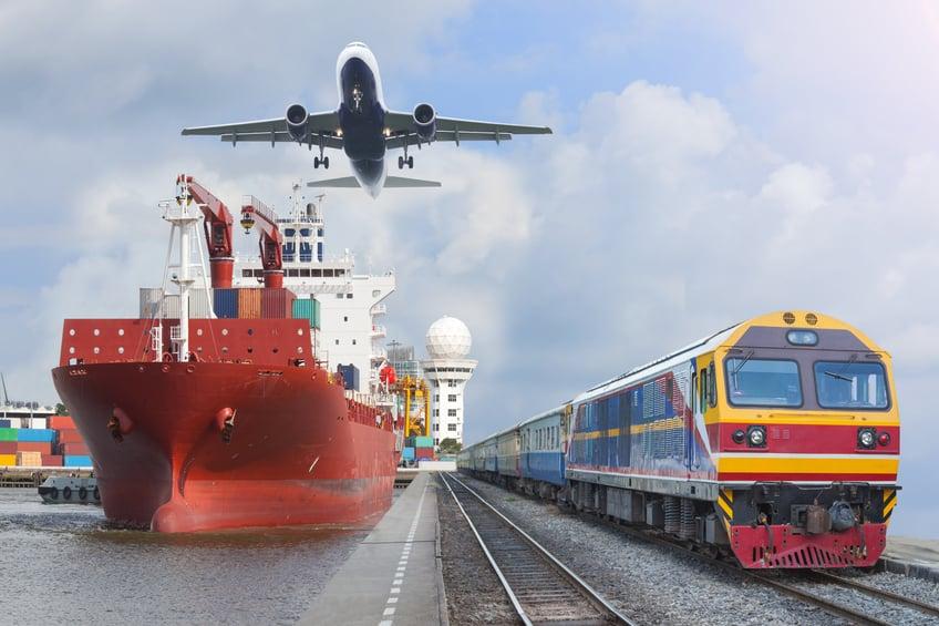 plane boat train