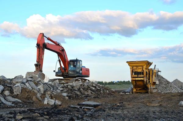 Mining coarse aggregate for concrete