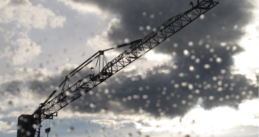 Tower Crane in a storm