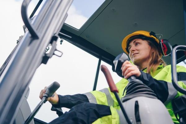 Front-end loader licensed operator
