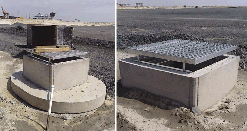 Manhole Form Hire's square  manhole forms