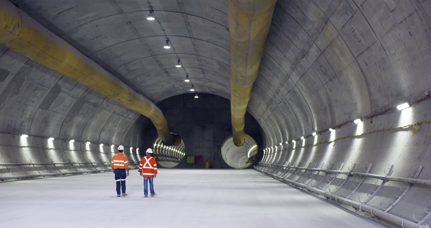 Tunnelling work in Sydney