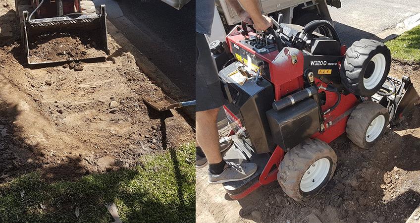 DIY driveway work undertaken by an iSeekplant employee