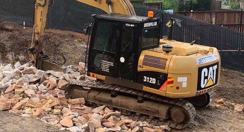 track-mounted-CAT-excavator
