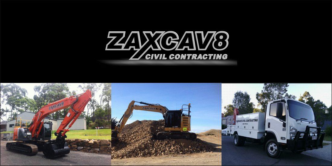 Zaxcav8 Civil Contracting Banner