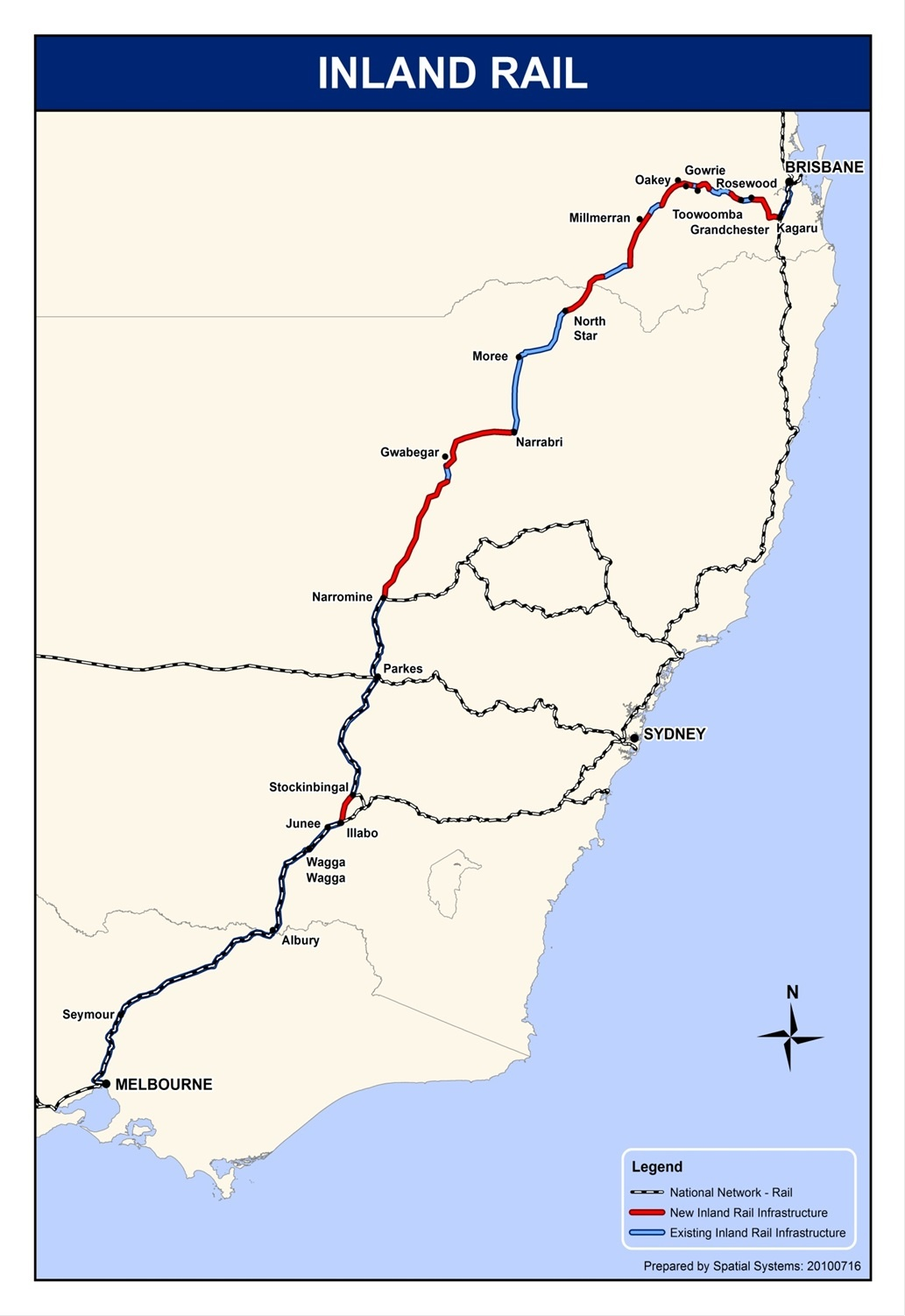 Melbourne to Brisbane Inland Rail Route