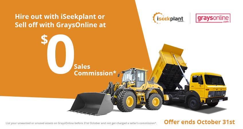 GraysOnline & iSeekplant Partnership 848x450