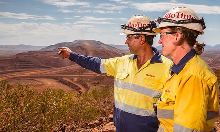 Rio Tinto employees at a mining site