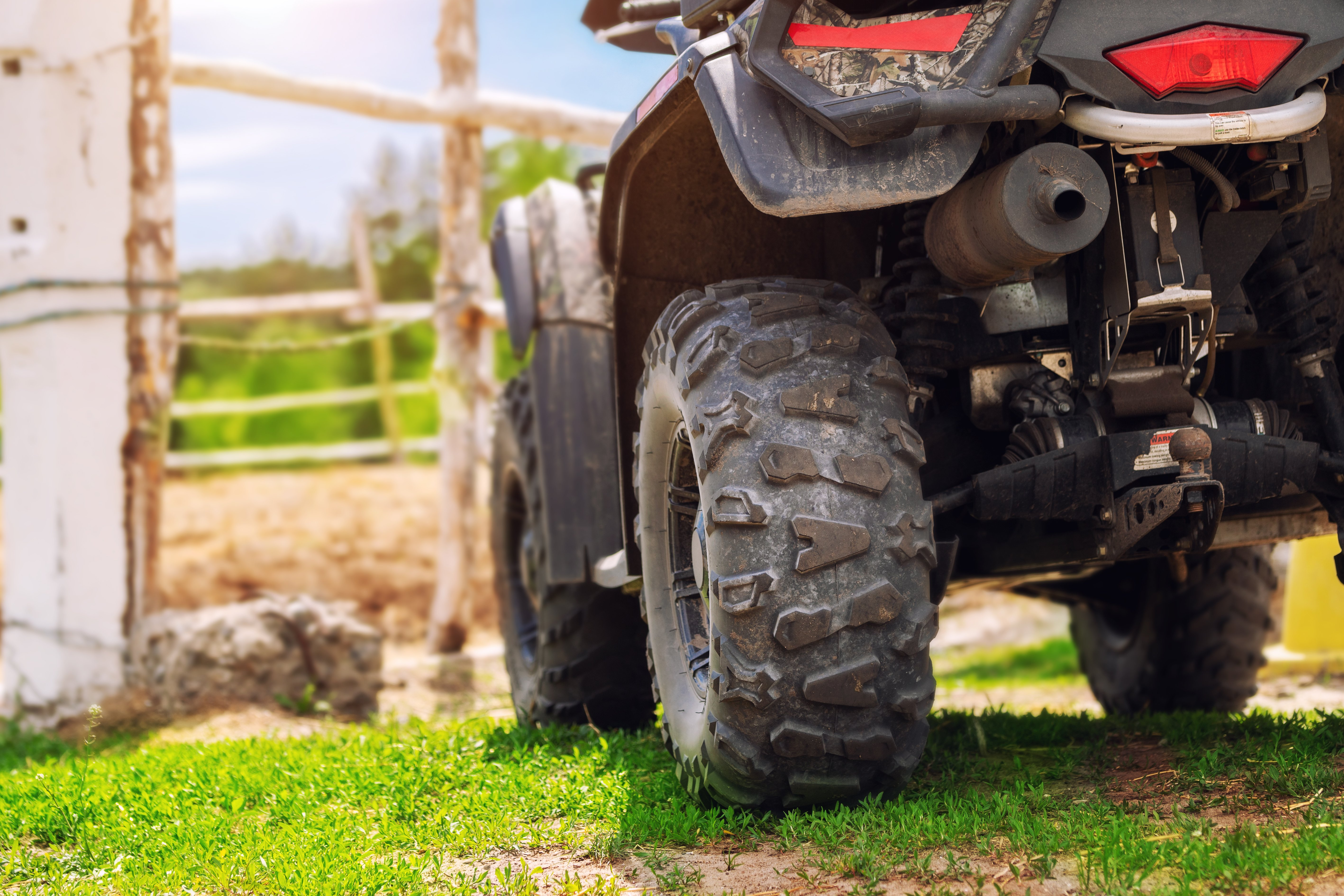 ATV on farm